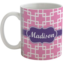 Linked Squares Coffee Mug (Personalized)