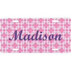 Linked Squares Front License Plate (Personalized)