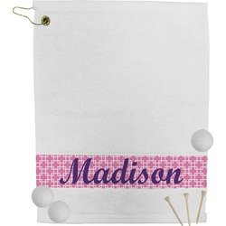 Linked Squares Golf Towel (Personalized)