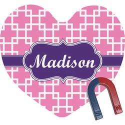 Linked Squares Heart Fridge Magnet (Personalized)