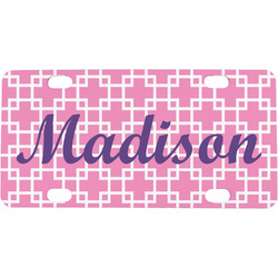 Linked Squares Mini / Bicycle License Plate (Personalized)