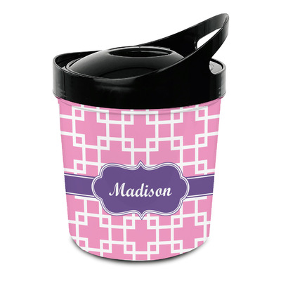Linked Squares Plastic Ice Bucket (Personalized)