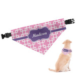 Linked Squares Dog Bandana (Personalized)