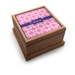 Linked Squares Pet Urn w/ Name or Text