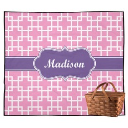 Linked Squares Outdoor Picnic Blanket (Personalized)