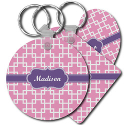 Linked Squares Plastic Keychains (Personalized)