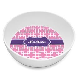 Linked Squares Melamine Bowl 8oz (Personalized)