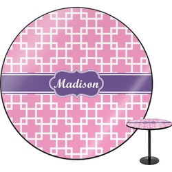 Linked Squares Round Table (Personalized)