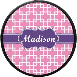 Linked Squares Round Trailer Hitch Cover (Personalized)
