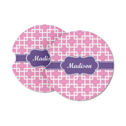 Linked Squares Sandstone Car Coasters (Personalized)