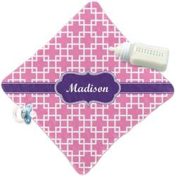 Linked Squares Security Blanket (Personalized)