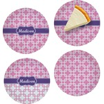 Linked Squares Set of Appetizer / Dessert Plates (Personalized)