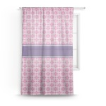 Linked Squares Sheer Curtains (Personalized)