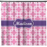 Linked Squares Shower Curtain (Personalized)
