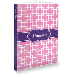 Linked Squares Softbound Notebook (Personalized)