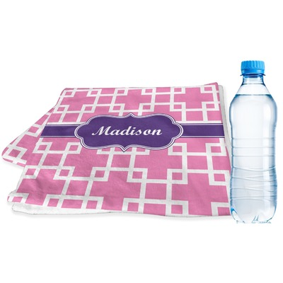 Linked Squares Sports & Fitness Towel (Personalized)