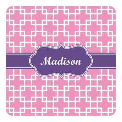 Linked Squares Square Decal - Custom Size (Personalized)