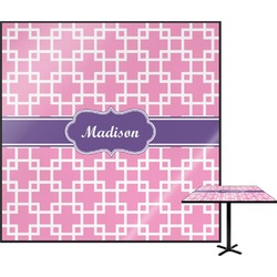 """Linked Squares Square Table Top - 24"""" (Personalized)"""