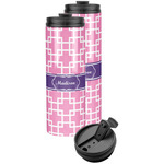 Linked Squares Stainless Steel Skinny Tumbler (Personalized)