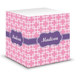 Linked Squares Sticky Note Cube (Personalized)