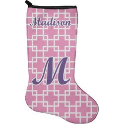 Linked Squares Christmas Stocking - Neoprene (Personalized)