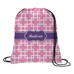 Linked Squares Drawstring Backpack (Personalized)