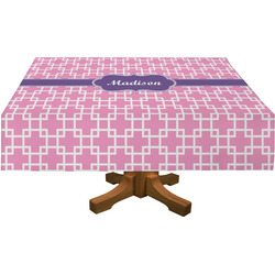 Linked Squares Rectangle Tablecloth (Personalized)