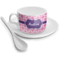 Linked Squares Tea Cups (Personalized)