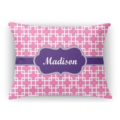 Linked Squares Rectangular Throw Pillow Case (Personalized)