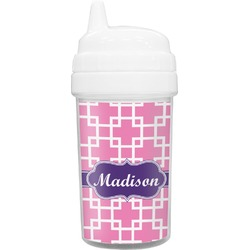 Linked Squares Toddler Sippy Cup (Personalized)