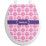 Linked Squares Toilet Seat Decal (Personalized)