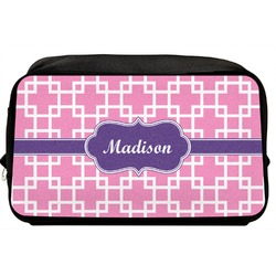 Linked Squares Toiletry Bag / Dopp Kit (Personalized)