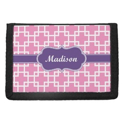 Linked Squares Trifold Wallet (Personalized)