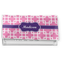 Linked Squares Vinyl Checkbook Cover (Personalized)