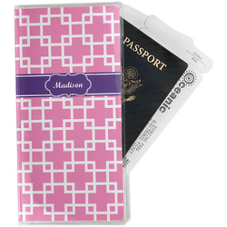 Linked Squares Travel Document Holder