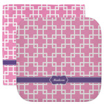 Linked Squares Facecloth / Wash Cloth (Personalized)