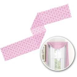 Linked Squares Window Sheer Scarf Valance (Personalized)