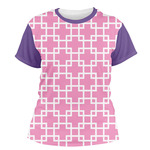 Linked Squares Women's Crew T-Shirt (Personalized)