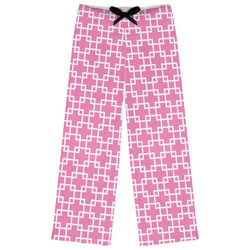 Linked Squares Womens Pajama Pants (Personalized)