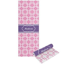Linked Squares Yoga Mat - Printed Front and Back (Personalized)