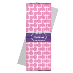 Linked Squares Yoga Mat Towel (Personalized)