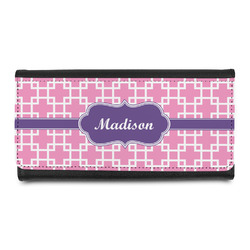Linked Squares Leatherette Ladies Wallet (Personalized)