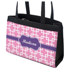 Linked Squares Zippered Everyday Tote (Personalized)