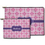 Linked Squares Zipper Pouch (Personalized)