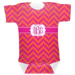 Pink & Orange Chevron Baby Bodysuit (Personalized)