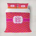 Pink & Orange Chevron Duvet Covers (Personalized)