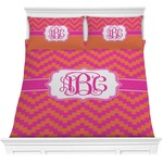 Pink & Orange Chevron Comforters (Personalized)