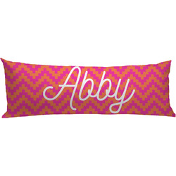 Pink & Orange Chevron Body Pillow Case (Personalized)