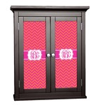 Pink & Orange Chevron Cabinet Decal - Custom Size (Personalized)
