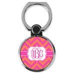 Pink & Orange Chevron Cell Phone Ring Stand & Holder (Personalized)